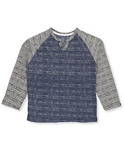 Swiss Cross Big Boys' Henley Raglan Shirt (Sizes 8 – 20) - CookiesKids.com