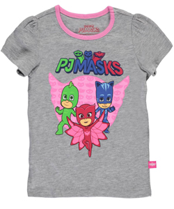 "PJ Masks Little Girls' Toddler ""Trio"" T-Shirt (Sizes 2T – 4T) - CookiesKids.com"