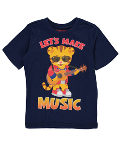 "Daniel Tiger's Neighborhood Little Boys' Toddler ""Make Music"" T-Shirt (Sizes 2T – 4T) - CookiesKids.com"