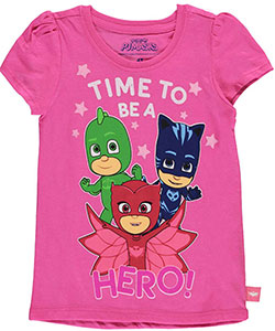 "PJ Masks Little Girls' Toddler ""Time to Be a Hero!"" T-Shirt (Sizes 2T – 4T) - CookiesKids.com"