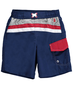 "Rugged Bear Little Boys' ""Arc Stripe"" Boardshorts (Sizes 4 – 7) - CookiesKids.com"