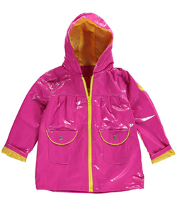 "Wippette Big Girls' ""Snap Pockets"" Rain Jacket (Sizes 7 – 16) - CookiesKids.com"