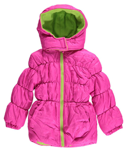 "Pink Platinum Little Girls' ""Frosted Leopard"" Jacket (Sizes 4 – 6X) - CookiesKids.com"