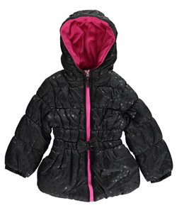 "Pink Platinum Little Girls' ""Frosted Hearts"" Jacket (Sizes 4 – 6X) - CookiesKids.com"