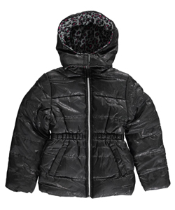 "Pink Platinum Big Girls' ""Snowstorm Sheen"" Insulated Parka (Sizes 7 – 16) - CookiesKids.com"