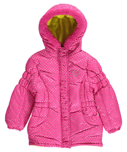 "Pink Platinum Little Girls' ""Hailstorm Shine"" Jacket (Sizes 4 – 6X) - CookiesKids.com"
