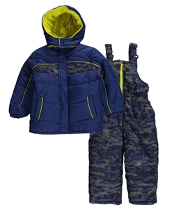 "iXtreme Little Boys' Toddler ""Dot Camo"" 2-Piece Snowsuit (Sizes 2T – 4T) - CookiesKids.com"