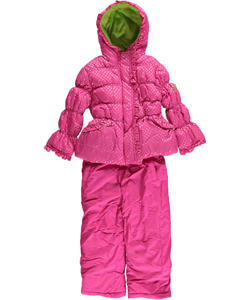 "Pink Platinum Little Girls' ""Dot Snowflake"" 2-Piece Snowsuit (Sizes 4 – 6X) - CookiesKids.com"
