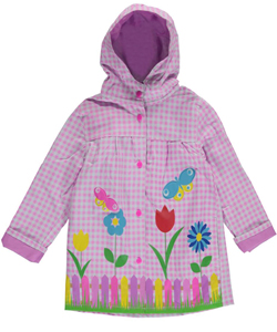 "Wippette Little Girls' Toddler ""Checkered Picnic"" Rain Jacket (Sizes 2T – 4T) - CookiesKids.com"