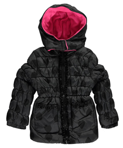 "Pink Platinum Little Girls' Toddler ""Heart Tones"" Insulated Jacket (Sizes 2T – 4T) - CookiesKids.com"