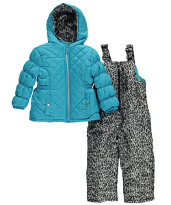 "Pink Platinum Little Girls' Toddler ""Flavor"" 2-Piece Snowsuit (Sizes 2T – 4T) - CookiesKids.com"