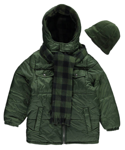 "iXtreme Big Boys' ""Woodsy Check"" Insulated Jacket with Accessories (Sizes 8 – 20) - CookiesKids.com"