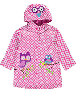 "Wippette Little Girls' ""Owls on Branches"" Rain Jacket (Sizes 4 – 6X) - CookiesKids.com"