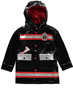 "Wippette Little Boys' ""Jr. Firefighter"" Rain Jacket (Sizes 4 – 7) - CookiesKids.com"