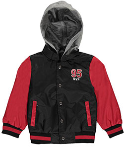 "iXtreme Little Boys' Toddler ""95 MVP"" Hooded Varsity Jacket (Sizes 2T – 4T) - CookiesKids.com"