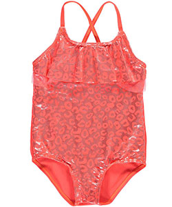 "Pink Platinum Little Girls' ""Glimmer Leopard"" 1-Piece Swimsuit (Sizes 4 – 6X) - CookiesKids.com"