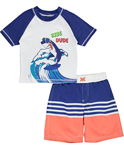 "iXtreme Little Boys' ""Surf's Up"" 2-Piece Swim Set (Sizes 4 – 7) - CookiesKids.com"