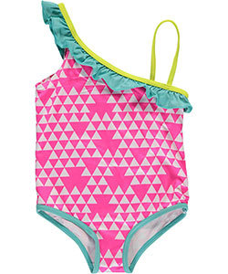 "Pink Platinum Little Girls' Toddler ""Bianca"" 1-Piece Swimsuit (Sizes 2T – 4T) - CookiesKids.com"