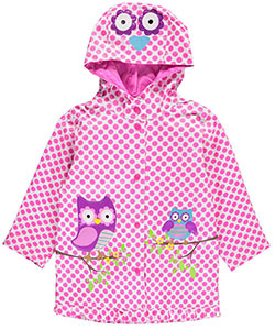 "Wippette Little Girls' Toddler ""Owls on Branches"" Rain Jacket (Sizes 2T – 4T) - CookiesKids.com"