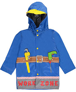"Wippette Little Boys' ""Work Zone"" Rain Jacket (Sizes 4 – 7) - CookiesKids.com"