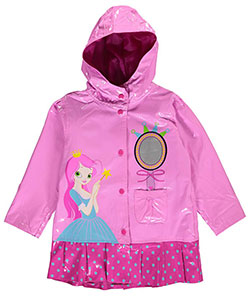 "Wippette Little Girls' Toddler ""Fairest Princess"" Rain Jacket (Sizes 2T – 4T) - CookiesKids.com"
