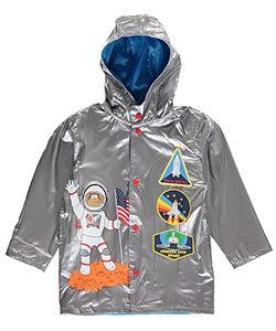 "Wippette Little Boys' Toddler ""Jr. Astronaut"" Rain Jacket (Sizes 2T – 4T) - CookiesKids.com"