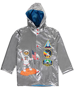 "Wippette Little Boys' ""Jr. Astronaut"" Rain Jacket (Sizes 4 – 7) - CookiesKids.com"