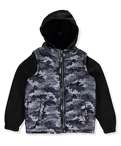 iXtreme Big Boys' Insulated Jacket with Tricot Sleeves (Sizes 8 – 20) - CookiesKids.com