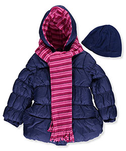 Pink Platinum Little Girls' Toddler Insulated Parka with Accessories (Sizes 2T – 4T) - CookiesKids.com