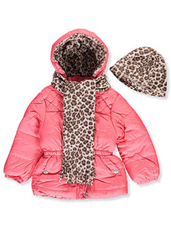 Pink Platinum Little Girls' Toddler Insulated Jacket with Accessories (Sizes 2T – 4T) - CookiesKids.com