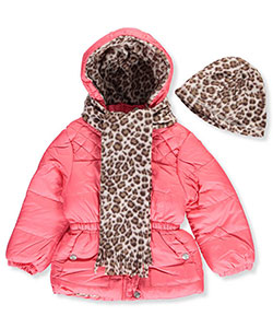 Pink Platinum Little Girls' Insulated Jacket with Accessories (Sizes 4 – 6X) - CookiesKids.com