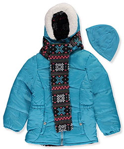 Pink Platinum Big Girls' Insulated Jacket with Accessories (Sizes 7 – 16) - CookiesKids.com