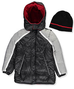 iXtreme Big Boys' Insulated Jacket with Beanie (Sizes 8 – 20) - CookiesKids.com