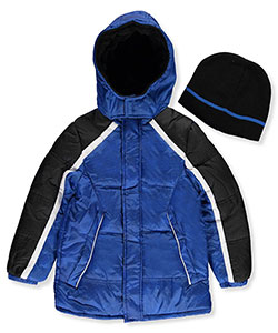 iXtreme Little Boys' Insulated Jacket with Beanie (Sizes 4 – 7) - CookiesKids.com
