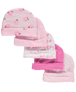 "Snugly Baby Baby Girls' ""Growing Cuter"" 5-Pack Caps - CookiesKids.com"