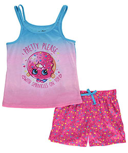 "Shopkins Big Girls' ""Sprinkles on Top"" 2-Piece Pajamas (Sizes 7 – 16) - CookiesKids.com"