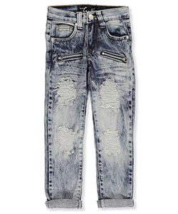 "Thrill Little Girls' ""Whiskered Zip"" Jeans (Sizes 4 – 6X) - CookiesKids.com"
