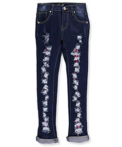 "Thrill Little Girls' ""Lace Burst"" Jeans (Sizes 4 – 6X) - CookiesKids.com"