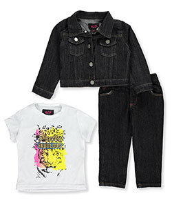 Wild Punch Little Girls' Toddler 3-Piece Outfit (Sizes 2T – 4T) - CookiesKids.com