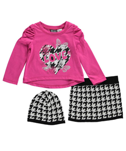 "Pogo Club Little Girls' Toddler ""Houndstooth Love"" 3-Piece Outfit (Sizes 2T – 4T) - CookiesKids.com"