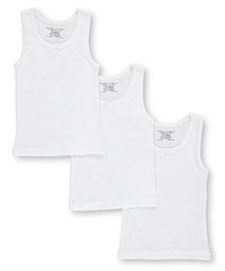 "Rene Rofe Little Girls' Toddler ""Basic Tank Layer"" 3-Pack Camis (Sizes 2T – 4T) - CookiesKids.com"
