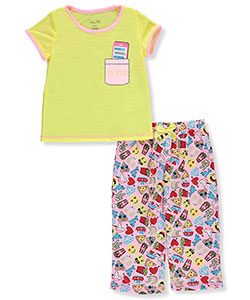 "Rene Rofe Little Girls' ""Oh Snap!"" 2-Piece Pajamas (Sizes 4 – 6X) - CookiesKids.com"