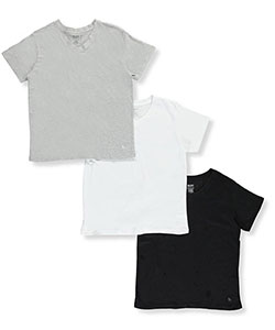 BUM Equipment Big Boys' 3-Pack V-Neck T-Shirts (Sizes 8 – 20) - CookiesKids.com