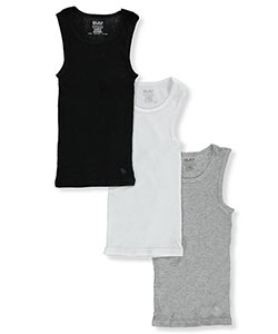 BUM Equipment Big Boys' 3-Pack Ribbed Tanks (Sizes 8 – 20) - CookiesKids.com