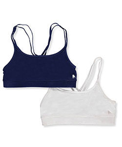 BUM Equipment Big Girls' 2-Pack Racerback Bralettes (Sizes 7 – 14) - CookiesKids.com