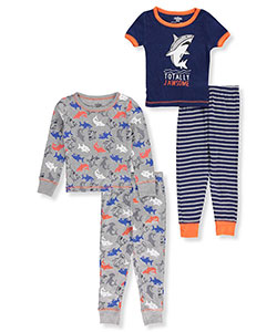 Boys Only Little Boys' Toddler 4-Piece Pajama Set (Sizes 2T – 4T) - CookiesKids.com