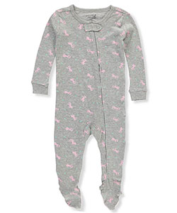 Rene Rofe Baby Girls' 1-Piece Footed Pajamas - CookiesKids.com