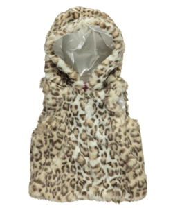 "Urban Republic Little Girls' ""Toddler ""Snow Leopard Luxe"" Hooded Vest (Sizes 2T – 4T) - CookiesKids.com"