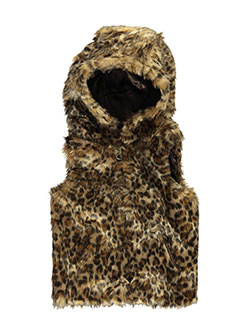 "Urban Republic Big Girls' ""Leopard Luxe"" Hooded Vest (Sizes 7 – 16) - CookiesKids.com"