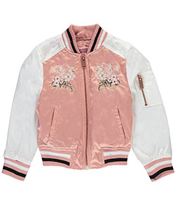 "Urban Republic Little Girls' Toddler ""Spring Branches"" Flight Jacket (Sizes 2T – 4T) - CookiesKids.com"